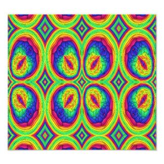 Modelo elegante de repetición colorido impresiones fotográficas
