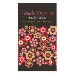 Modelo elegante del caramelo de las flores rosadas tarjetas de visita