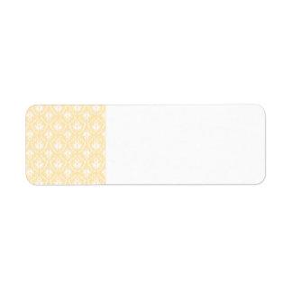 Modelo elegante del damasco. Color ligero del oro Etiquetas De Remite