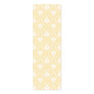 Modelo elegante del damasco Color ligero del oro Plantilla De Tarjeta De Visita