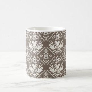 Modelo elegante del damasco de color topo de taza clásica