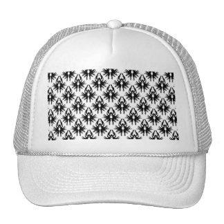 Modelo elegante del damasco en blanco y negro. gorras