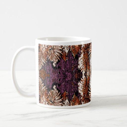 Modelo elegante del helecho taza de café