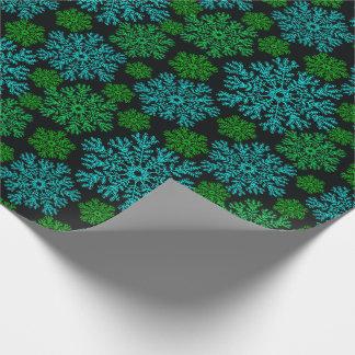 Modelo elegante del invierno de los copos de nieve papel de regalo