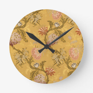 Modelo elegante del pájaro del victorian del oro d reloj de pared