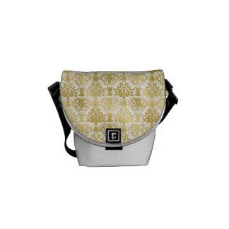 Modelo elegante elegante barroco hermoso de oro bolsas de mensajeria
