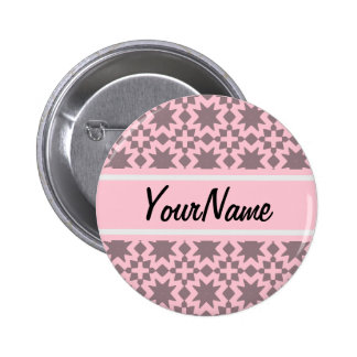 Modelo elegante elegante de encargo del rosa en pin redondo 5 cm