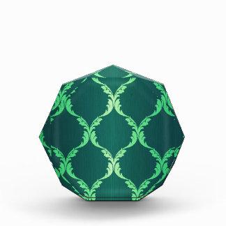 modelo elegante elegante floral del damasco verde