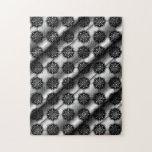Modelo elegante elegante negro y gris puzzle