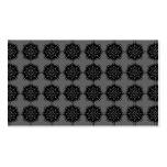 Modelo elegante elegante. Negro y gris Tarjetas De Visita