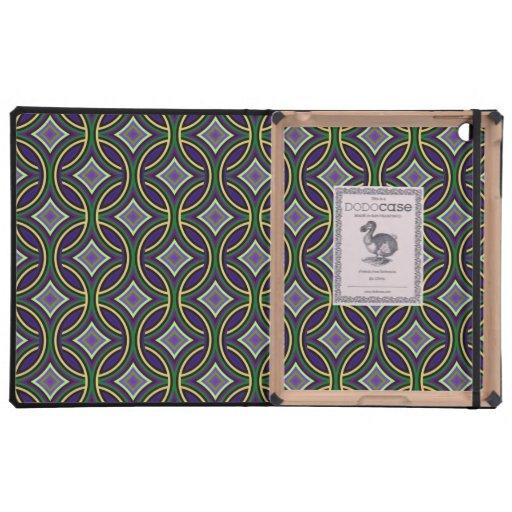 Modelo elegante enrrollado del Celtic del verde az iPad Cárcasa
