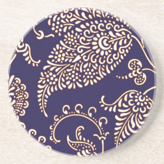 Modelo elegante floral femenino de Paisley del vin Posavasos Personalizados