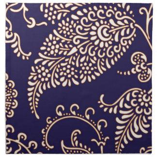 Modelo elegante floral femenino de Paisley del vin Servilletas