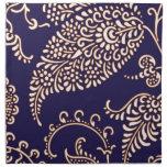 Modelo elegante floral femenino de Paisley del vin Servilletas Imprimidas
