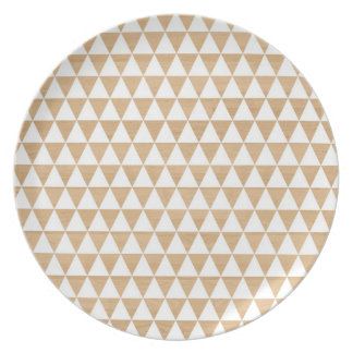 Modelo elegante geométrico de madera tribal modern plato