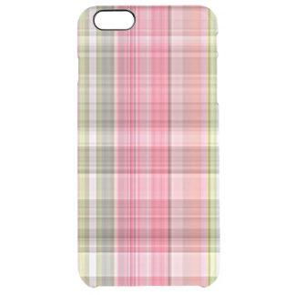 Modelo elegante retro verde blanco rosado de la funda clear para iPhone 6 plus