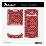Modelo elegante rojo skins para BlackBerry