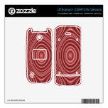 Modelo elegante rojo teléfono UTStarcom skins