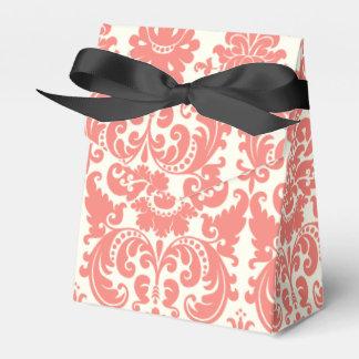 Modelo elegante rosado y de marfil coralino del caja para regalo de boda