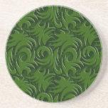 Modelo elegante verde del remolino del navidad posavasos manualidades