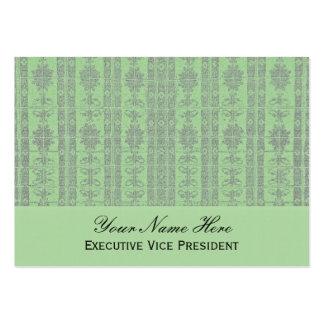Modelo elegante verde en colores pastel tarjetas de visita grandes