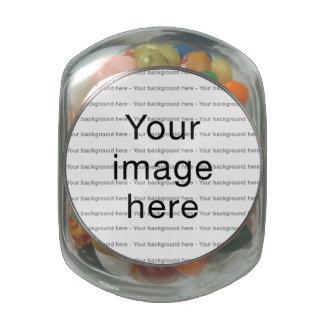 Modelo en blanco de plantilla doble personalizada jarras de cristal jelly bely
