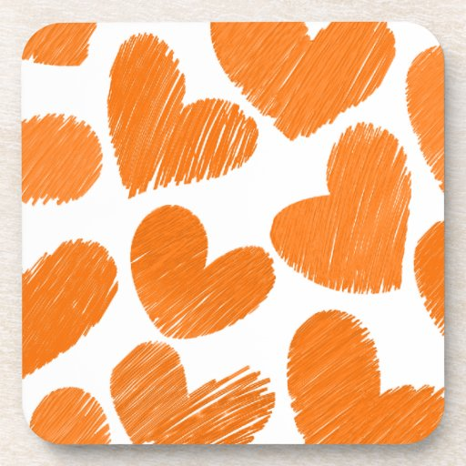 Modelo en colores pastel anaranjado femenino de lo posavasos