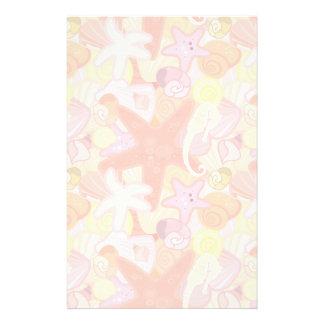 Modelo en colores pastel de la criatura del mar  papeleria