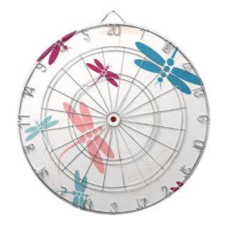 Modelo en colores pastel de las libélulas