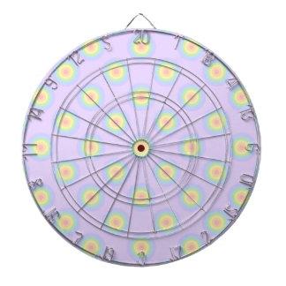 Modelo en colores pastel de los círculos tabla dardos