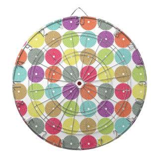 Modelo en colores pastel de los discos del círculo tablero de dardos