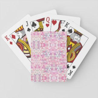 Modelo en colores pastel de los triángulos de la barajas de cartas
