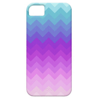 Modelo en colores pastel de Ombre Chevron iPhone 5 Carcasa