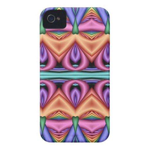 Modelo en colores pastel decorativo artístico iPhone 4 Case-Mate cobertura