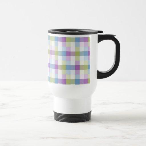 Modelo en colores pastel del bloque tazas de café