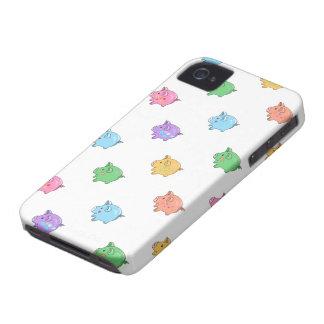 Modelo en colores pastel del cerdo Case-Mate iPhone 4 coberturas