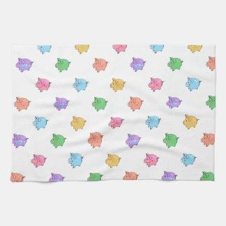 Modelo en colores pastel del cerdo toalla