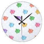 Modelo en colores pastel del cerdo reloj