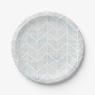 Modelo en colores pastel del galón de la menta de plato de papel de 7 pulgadas