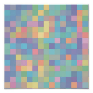 Modelo en colores pastel del pixel del arco iris cojinete