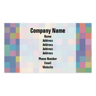 Modelo en colores pastel del pixel del arco iris plantillas de tarjetas de visita