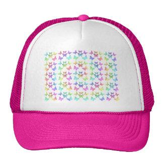 Modelo en colores pastel del remolino de las marip gorras