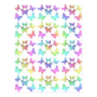 Modelo en colores pastel del remolino de las marip tarjetas postales