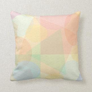 Modelo en colores pastel geométrico elegante cojín