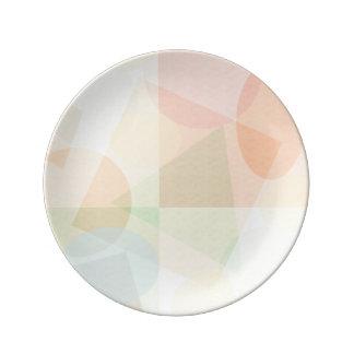 Modelo en colores pastel geométrico elegante platos de cerámica