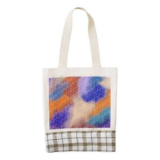Modelo en colores pastel geométrico moderno de la bolsa tote zazzle HEART