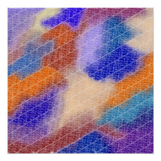 Modelo en colores pastel geométrico moderno de la perfect poster