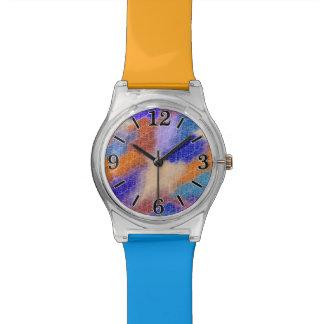Modelo en colores pastel geométrico moderno de la reloj