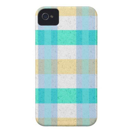 Modelo en colores pastel lindo de la tela escocesa iPhone 4 Case-Mate protector