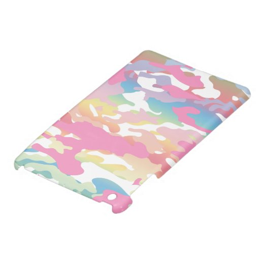 Modelo en colores pastel rosado de Camo iPad Mini Cárcasas